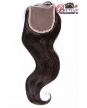 Peruvian Straight Closure 14 inch 4X4